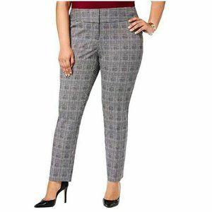 Alfani 20W Gray Glen Plaid Slim Leg Pants NWT N79